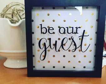 Be Our Guest Shadow Box Art