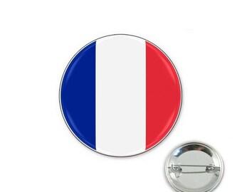 France flag - 32mm Badge button