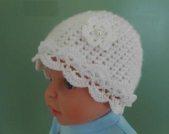 Baby crochet cotton cap