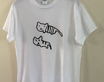 Cats About It Screen Printed T-shirt
