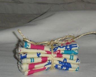 BAMBOO set of 6 washable wipes sponge bamboo