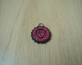 Pink and black slider charm