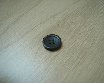Brown shaped plastic button round