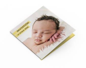 Birthday invitation card - A customize - model Hector - birthday invitation card - child/adult