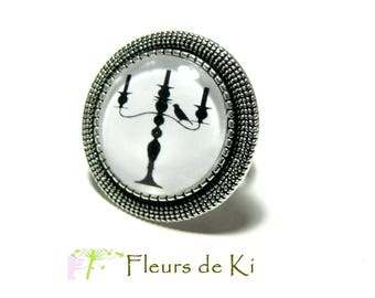 Designer jewelry: RETRO silver candlelight dinner ring