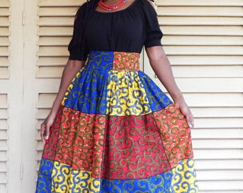 Set top and maxi skirt in African print