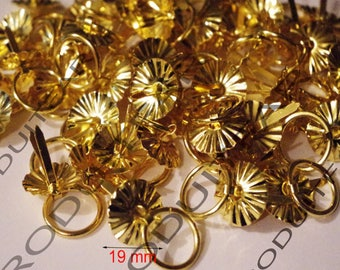 Lot 4 handle handle rings gold clip-on furniture business Buffet Secretary dresser drawer