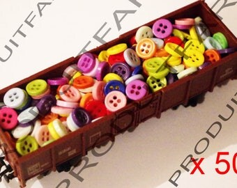 500 button resin 9 mm 4 hole blue red green blue Ros Etc sewing