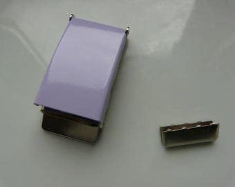 Lavender metal belt 25 mm loops