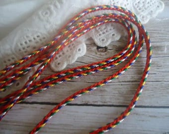 Cord (multicolored) fancy for your designs... jewelry... 1 m