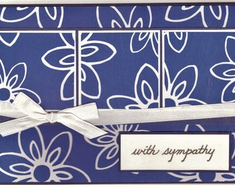 Sympathy Card - Blue and White