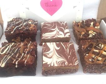 Salted Caramel Brownie, Flapjack, Millionaire Traybake Gift Box Hamper - Caramel Box