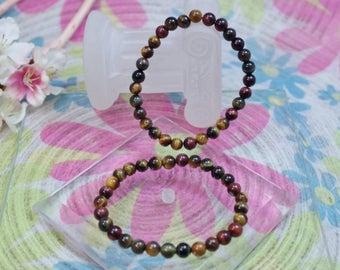 Bracelet natural stone 3 eyes