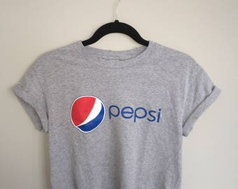 90's Vintage Upcycled Pepsi Cropped Shirt