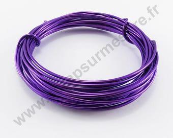 Transparent glass Ø 2 mm - purple - x 10 m