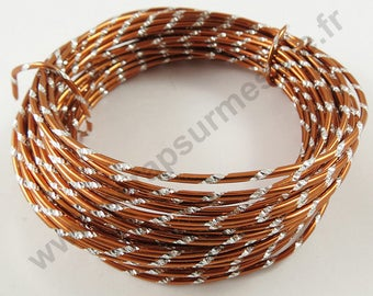 Engraved aluminum Ø 2mm x 10 m - copper - wire