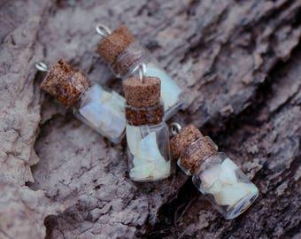 Opal vial pendant