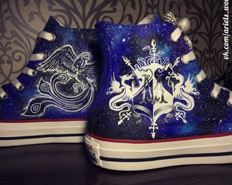 """An example of painting a sneaker """"space + two drawings."""""""