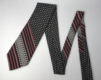 Vintage Wemlon Fabric Wembley Textile Tie