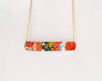 Japanese papers Hanko 篆書体 plated gold shawl collar.