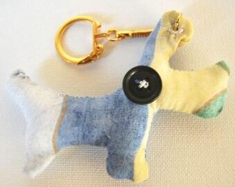 Pastel dog fabric key