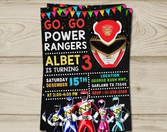 Power ranger invitation, power ranger birthday, power ranger birthday invitation, power ranger party, power ranger printable, power ranger