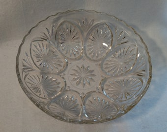 1960's Anchor Hocking Star & Cameo Cut Glass Bowl