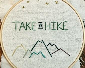 Take A Hike Cross Stitch