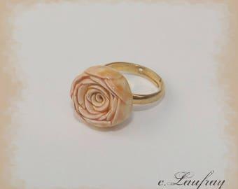 Vintage orange flower ring