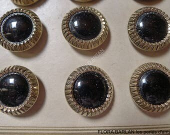 22 antique glass buttons