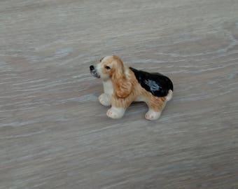 Dog porcelain miniature home decor