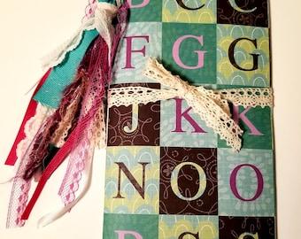 Colorful Letter Block Traveler's Notebook, Traveler's Notebook Insert, Junk Journal, Handmade Journal, Handmade Diary, Planner