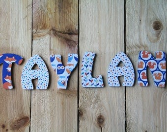 letter name Woods nature animal theme