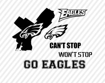 philadelphia eagles svg, football clipart, svg files, silhouette cameo, philadelphia football, cricut files, football svg designs
