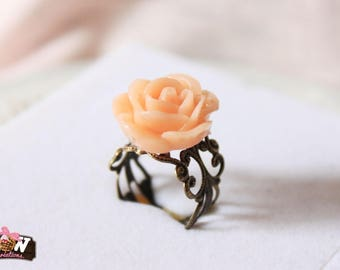 Ring - Peachy pink