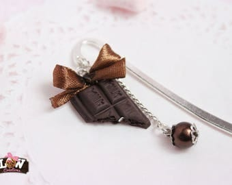 Bookmarks - small - MILK chocolate and caramel bow
