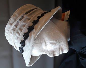 off white velvet Hat