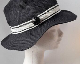 black and white fedora Hat