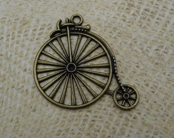 Ferris wheel steampunk metal bronze large bicycle charm 45mm