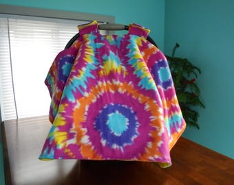 tie dye fleece car seat canopy