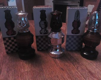 Vintage Collectible Assorted AVON Chess Piece Aftershave Decanters Lot of 3 / or choose individually