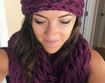 Finger Knit Headbands