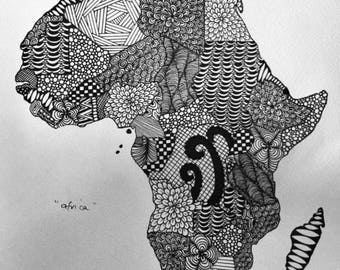 Mandala inspired drawings, including maps, animals and people