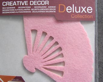felt pink self adhesive - Creative decor Deluxe Collection 1 fan