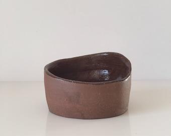 Small Handmade Terracotta Ceramic Bowl