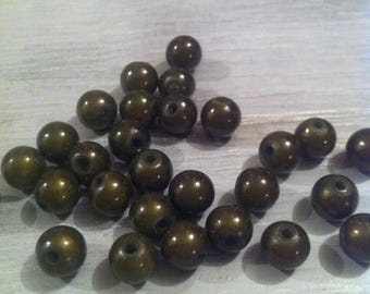 Magic miracle - khaki - 8 mm beads lot 10