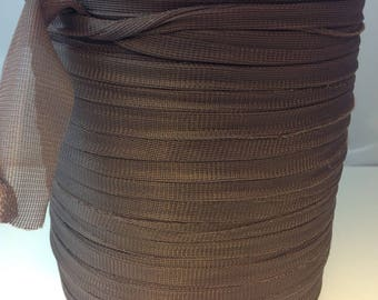 Large spool of Trapilho lycra jersey chocolate tulle