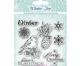 "Clear stamps ""Winter Joy"" 2 scrapbooking embellishment *."