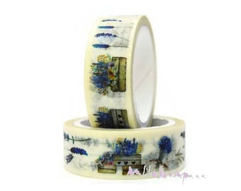 5 m masking deco tape floral sticker embellishment scrapbooking (ref.410) *.