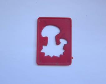 Stencil - hard plastic - mushroom forest theme / nature